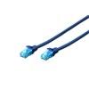 Digitus UTP CAT5e patch kábel 1 m (kék)