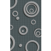 Dimex METAL CIRCLES fotótapéta, poszter, vlies alapanyag, 150x250 cm
