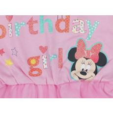 Disney Minnie lányka szülinapos rövid ujjú kombidressz