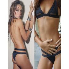 Divatos-Egyedi Bikini Fehér-Medium fürdőruha, bikini