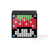 Divoom TimeBox Mini okos (Android,iOS), programozható bluetooth hangszóró 5W LED-es kijelzővel, fekete
