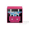 Divoom TimeBox Mini okos (Android,iOS), programozható bluetooth hangszóró 5W LED-es kijelzővel, pink