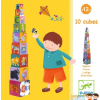 DJECO Toronyépítő kocka - mulatságos - 10 funny blocks