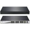 DLINK D-Link Switch 24x100Mbps +2x1000Mbps+2x1000Mbps/SFP Smart (PoE: 193 watt/24 port/1- 4 portok: 802.3at)