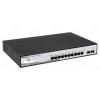 DLINK D-Link Switch 8x1000Mbps+ 2 SFP POE Smart (PoE: 65 Watt/8 port/802.3at) fanless