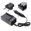 DMW-BLF19-charger DMW-BLF19 Akkuhoz töltő, Panasonic Lumix kamera DMW-BLF19 akkumulátor autós és hálózati töltő