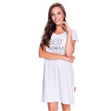 DN Nightwear Best mom kismamahálóing, szürke melírozott L