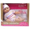Dolls World Little Sweerie baba, 30 cm, 16 féle hangot adó, alvós szemű baba, kiegészítőkkel