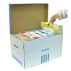 DONAU Archiváló konténer kék-fehér (doboz + tető)