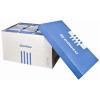 DONAU Archiváló konténer, levehető tető, 545x363x317 mm, karton, DONAU, kék-fehér