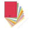 DONAU Elválasztó lap, karton, A4, DONAU, vegyes színek (D8610V)