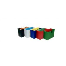 DONAU Függőmappa tároló, műanyag, 5 db függőmappával, DONAU, piros mappa