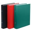 DONAU Gyűrűs könyv, 2 gyűrű, 30 mm, A5, PP/karton, , piros
