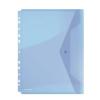 DONAU Irattartó tasak, A4, PP, patentos, lefűzhető, DONAU, kék (D8540K)