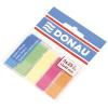 DONAU Jelölőcimke, műanyag, 5x25 lap, 12x45 mm, DONAU, neon szín