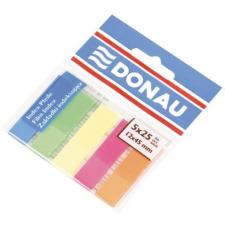 DONAU Jelölőcimke, műanyag, 5x25 lap, 12x45 mm, DONAU, neon szín jegyzettömb