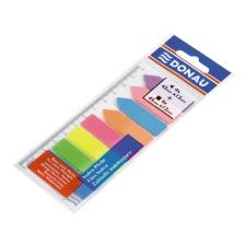 DONAU Jelölőcimke, műanyag, címke és nyíl forma, 8x25 lap, 12x45/42 mm, DONAU, neon szín jegyzettömb