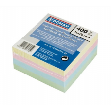 DONAU Öntapadó jegyzettömb, 76x76mm, 4x100 lap, , színes jegyzettömb