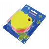 DONAU Öntapadó jegyzettömb, alma alakú, 5x80 lap, DONAU, vegyes szín