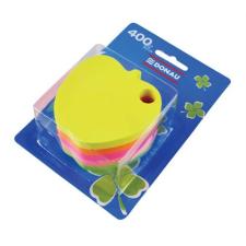 DONAU Öntapadó jegyzettömb, alma alakú, 5x80 lap, DONAU, vegyes szín jegyzettömb