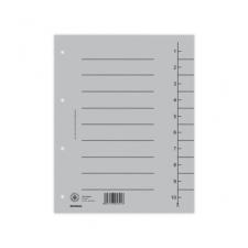 DONAU Regiszter, karton, A4, DONAU, szürke (100 db) regiszter és tartozékai