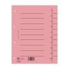 DONAU Regiszter, karton, A4, , rózsaszín