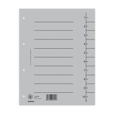DONAU Regiszter, karton, A4, , szürke regiszter és tartozékai