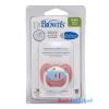 Dr. Browns PreVent vákummentes fogszabályzós játszócumi 0-6h-pink halacska 1db