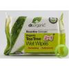 Dr. Organic Dr.Organic Bio Teafa Nedves Törlőkendő 20 db