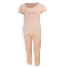 Dressa Dream női rövid ujjú pamut pizsama - barack