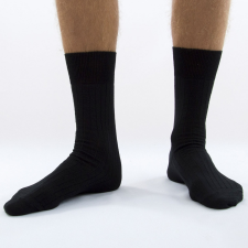 Dressa Dressa gyapjú öltöny zokni - fekete férfi zokni