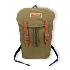Dressa Vintage laptop vászon hátizsák - katonazöld hátizsák
