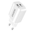 DUDAO 2x USB Home Travel EU adapter fali töltő 5V / 2.4a fehér (A2EU fehér)