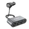 DUDAO R1Pro 12-24V, 3.4A autós töltő 2USB + 3 gyújtók és LED kijelző fekete