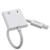 DUDAO Type-c USB - USB Type C / 3,5 mm-es mini jack fülhallgató-adapter audio és töltő, fehér (L13T fehér)