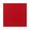 Duni szalvéta - 3 rétegű, 33x33, piros színben