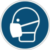 DURABLE Információs matrica, 430 mm, DURABLE  Használjon maszkot