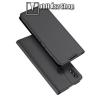 DUX DUCIS slim design notesz / mappa tok - SÖTÉT SZÜRKE - oldalra nyíló flip cover, asztali tartó funkció, szilikon belső, mágneses záródás - HUAWEI Honor 8X - GYÁRI