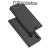 DUX DUCIS slim design notesz / mappa tok - SÖTÉT SZÜRKE - oldalra nyíló flip cover, asztali tartó funkció, szilikon belső, mágneses záródás - HUAWEI nova 3 - GYÁRI