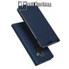 DUX DUCIS slim design notesz / mappa tok - SÖTÉTKÉK - oldalra nyíló flip cover, asztali tartó funkció, szilikon belső, mágneses záródás - SAMSUNG Galaxy J8 (2018) - GYÁRI