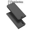 DUX DUCIS slim design notesz / mappa tok - SZÜRKE - oldalra nyíló flip cover, asztali tartó funkció, szilikon belsõ - HUAWEI P20 (2018) - GYÁRI