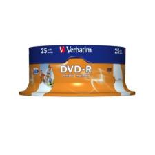 DVD-R Verbatim 4,7GB 16x Printable SPINDL nyomtató kellék
