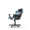 DXRacer Drifting D61-NWB fekete / fehér / kék Gamer szék