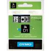 Dymo D1 53710, S0720920, 24mm x 7m fekete nyomtatás / átlátszó alapon, eredeti szalag