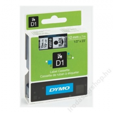DYMO Feliratozógép szalag, 19 mm x 7 m, DYMO D1, fehér-fekete (GD45803) fénymásolópapír
