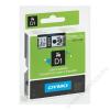 DYMO Feliratozógép szalag, 6 mm x 7 m, DYMO D1, fehér-fekete (GD43613)