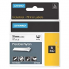 Dymo Rhino 1734524, S0773840, 24mm x 3,5m, fekete nyomtatás / fehér alapon, eredeti szalag
