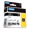 Dymo Rhino 1805435, 12mm x 5,5m, fehér nyomtatás / fekete alapon, eredeti szalag