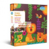 Dzsungel alkotó készlet 5 db színes filctoll, 4 db színes alaplap