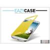 Eazy Case Samsung i9500 Galaxy S4 S View Cover flipes hátlap on/off funkcióval - EF-CI950BYEGWW utángyártott - yellow